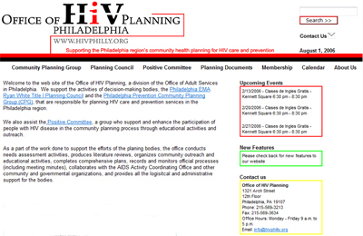 HIV Philly website