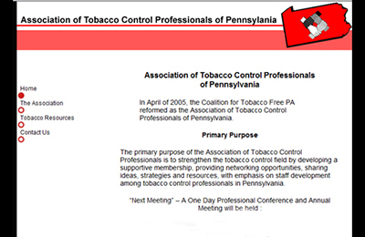 Tobacco Free PA Website